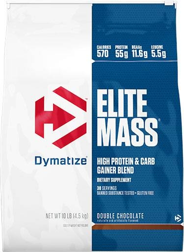 Elite Mass By Dymatize Nutrition, Double Chocolate 10lb