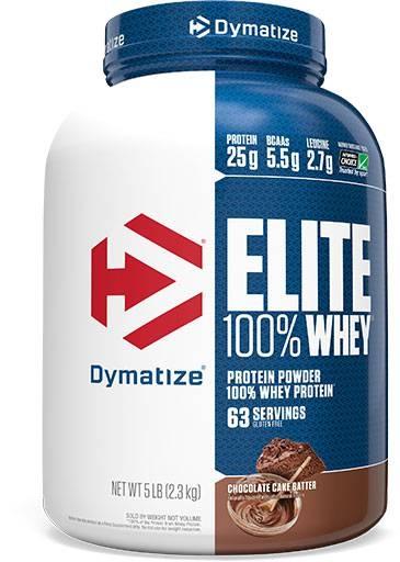 Dymatize Elite Whey Protein, Chocolate Cake Batter, 5lb