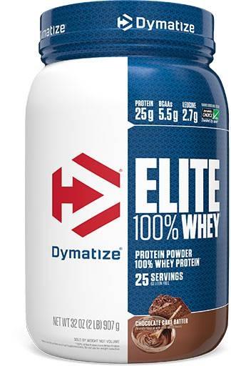 Dymatize Elite Whey Protein, Chocolate Cake Batter, 2lb