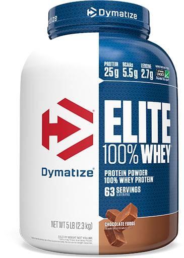 Dymatize Elite Whey Protein, Chocolate Fudge 5 lbs