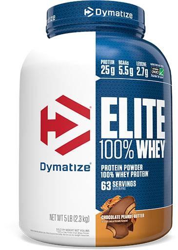 Dymatize Elite Whey Protein, Chocolate Peanut Butter, 5lb