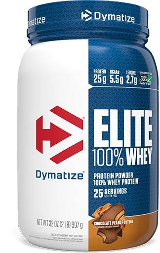 Dymatize Elite Whey Protein, Chocolate Peanut Butter, 2lb