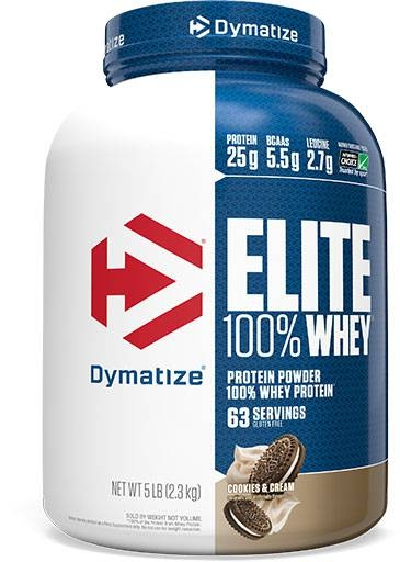 Dymatize Elite Whey Protein, Cookies and Cream 5 lbs