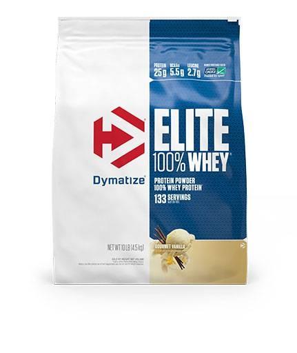Dymatize Elite Whey Protein, Gourmet Vanilla 10 lbs