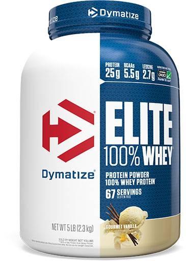 Dymatize Elite Whey Protein, Gourmet Vanilla 5 lbs