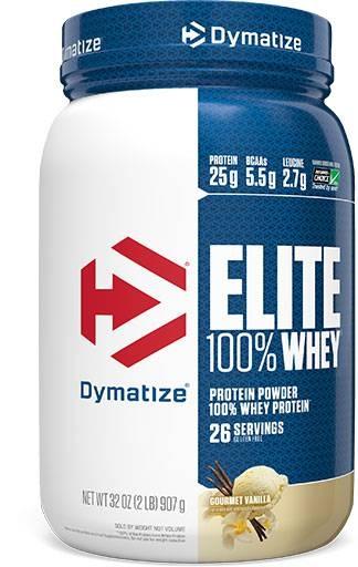 Dymatize Elite Whey Protein, Gourmet Vanilla 2 lbs