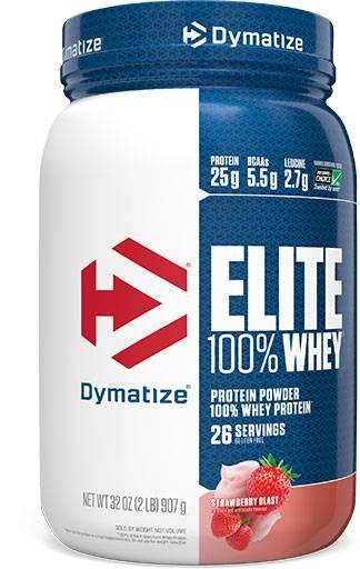Dymatize Elite Whey Protein, Strawberry Blast 2 lbs