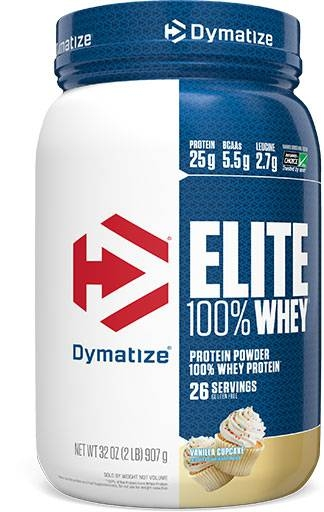 Dymatize Elite Whey, Vanilla Cupcake, 2lb