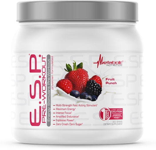 ESP Pre Workout, By Metabolic Nutrition, Fruit Punch, 300 Grams