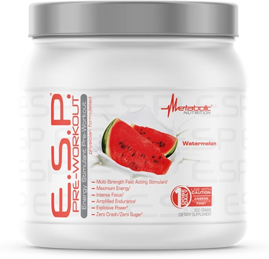 ESP Pre Workout, By Metabolic Nutrition, Watermelon, 300 Grams