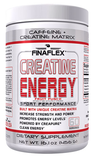 Creatine Energy By Finaflex, Fruit Punch 60 Servings