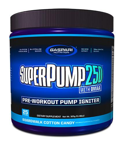 SuperPump 250 By Gaspari Nutrition, Boardwalk Cotton Candy, 325 Grams