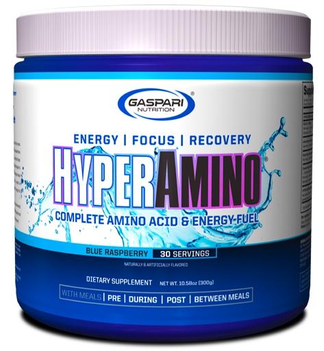 HyperAmino By Gaspari Nutrition, Blue Raspberry, 30 Servings
