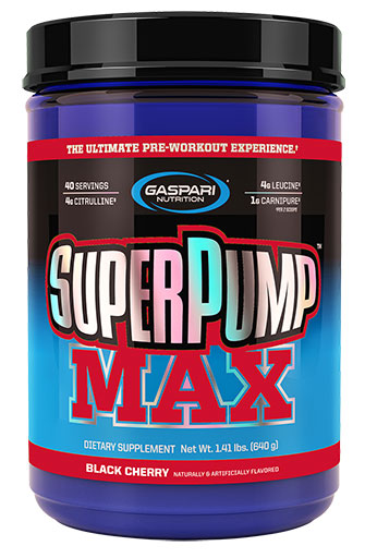 SuperPump Max, By Gaspari Nutrition, Black Cherry, 40 Servings