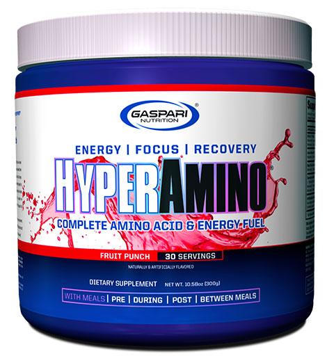 HyperAmino By Gaspari Nutrition, Fruit Punch, 30 Servings