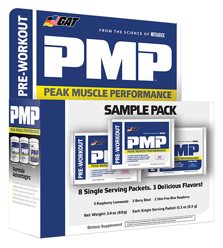 GAT PMP, Pre Workout, Variety Pack, 8 Packets