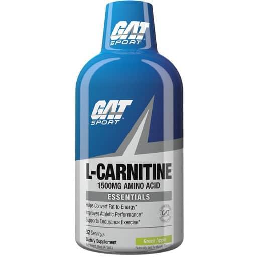 GAT L-Carnitine Liquid, Essentials Series, Green Apple, 16 oz