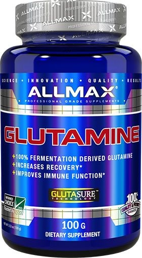 Glutamine Powder By Allmax Nutrition,100 Grams
