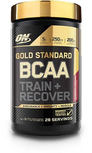 Gold Standard BCAA Train + Recovery By Optimum Nutrition, Cranberry Lemonade, 28 Servings