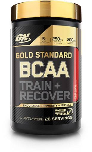 Gold Standard BCAA Train + Recovery By Optimum Nutrition, Fruit Punch, 28 Servings