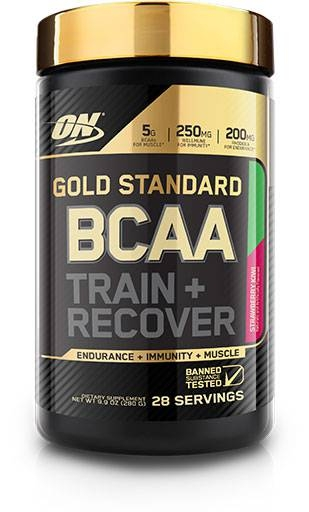 Gold Standard BCAA Train + Recovery By Optimum Nutrition, Strawberry Kiwi, 28 Servings