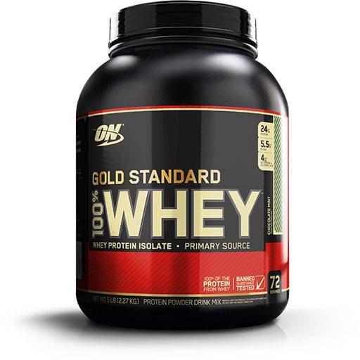 Gold Standard Whey Protein By Optimum Nutrition, Chocolate Mint 5lb