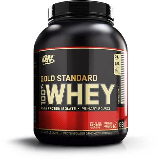Gold Standard Whey Protein By Optimum Nutrition, Cookies & Cream 5lb