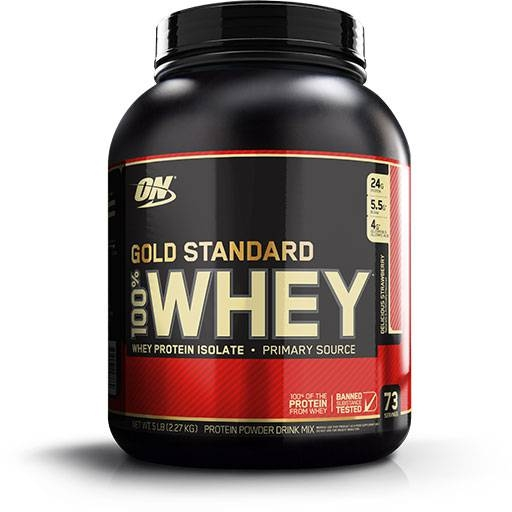 Gold Standard Whey Protein By Optimum Nutrition, Strawberry 5lb