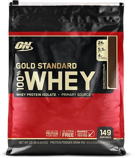 Gold Standard Whey Protein By Optimum Nutrition, Chocolate 10lb