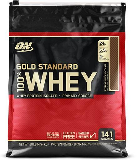 Gold Standard Whey Protein By Optimum Nutrition, Extreme Milk Chocolate 10LB
