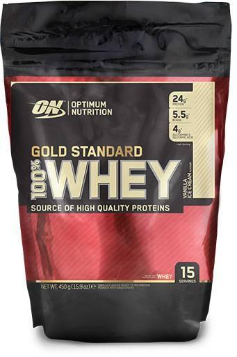 Gold Standard Whey Protein, By Optimum Nutrition, Vanilla Ice Cream, 1lb Bag