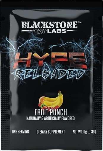 Hype Reloaded By Blackstone Labs, Fruit Punch, Sample Packet