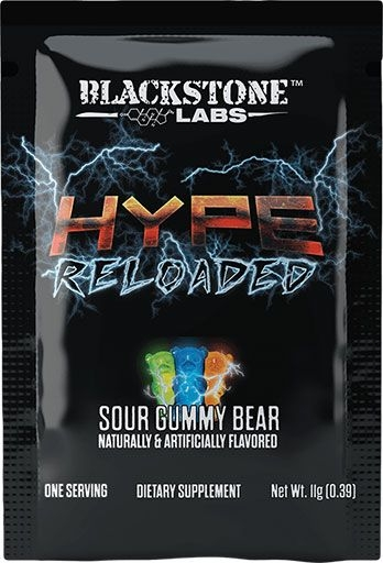 Hype Reloaded By Blackstone Labs, Sour Gummy Bear, Sample Packet