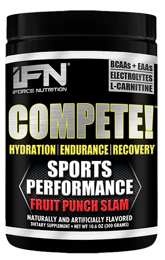 Compete By iForce Nutrition, Fruit Punch Slam, 50 Servings