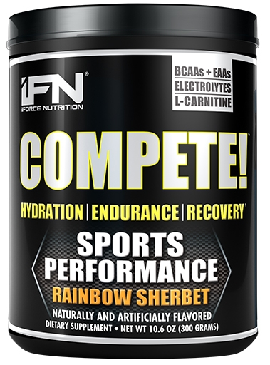 Compete By iForce Nutrition, Rainbow Sherbet, 50 Servings