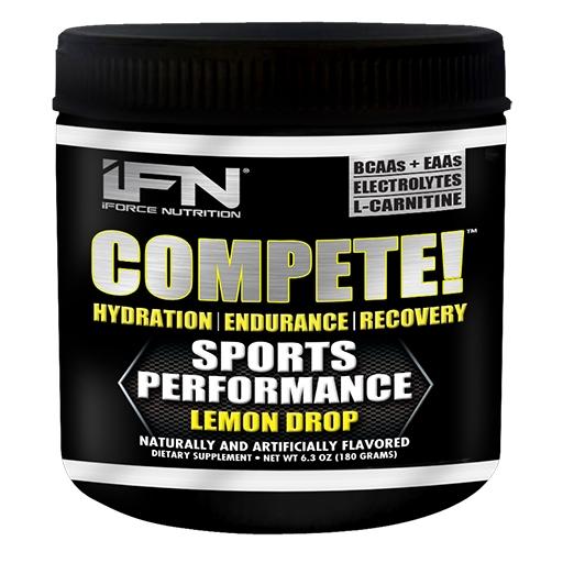 Compete By iForce Nutrition, Lemon Drop, 30 Servings