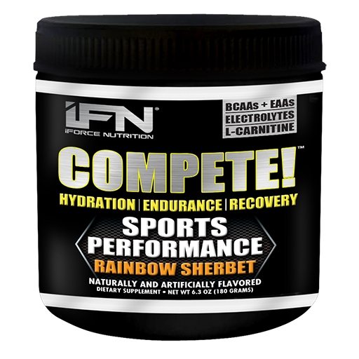 Compete By iForce Nutrition, Rainbow Sherbet, 30 Servings