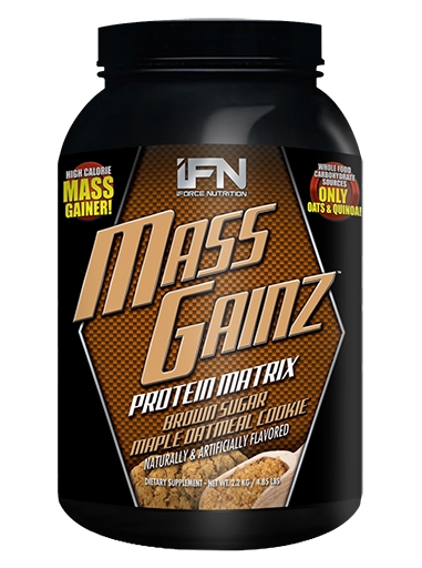 Mass GainZ By iForce Nutrition, Brown Sugar Maple Oatmeal Cookie, 4.85lb