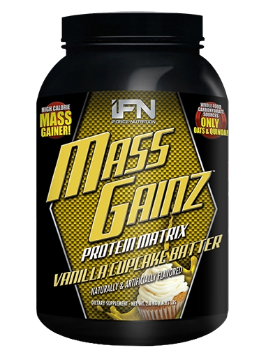Mass GainZ By iForce Nutrition, Vanilla Cupcake Batter, 4.85lb