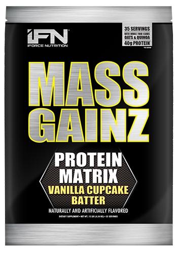 Mass GainZ By iForce Nutrition, Vanilla Cupcake Batter, 10lb