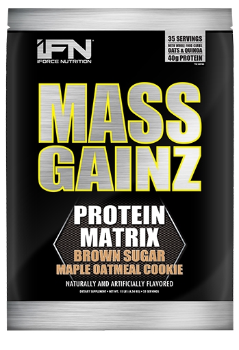 Mass GainZ By iForce Nutrition, Brown Sugar Maple Oatmeal Cookie, 10lb