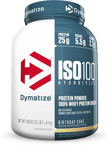 Dymatize Iso 100, Birthday Cake, 3lb