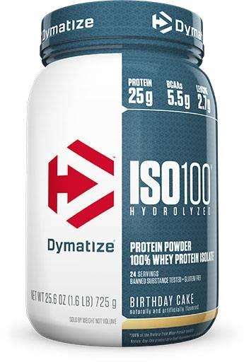 Dymatize Iso 100, Birthday Cake, 1.6lb