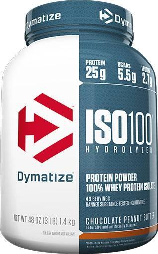Dymatize ISO 100, Chocolate Peanut Butter, 3lb