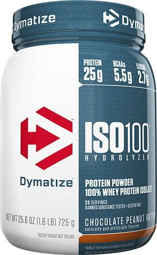 Dymatize ISO 100, Chocolate Peanut Butter, 1.6lb