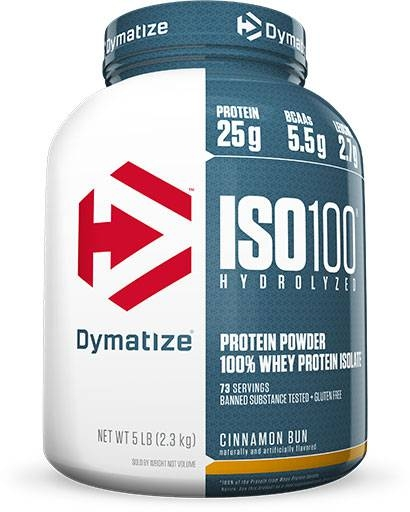 Dymatize ISO 100, Cinnamon Bun, 5lb