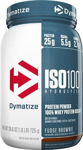 Dymatize Iso 100, Fudge Brownie, 1.6lb