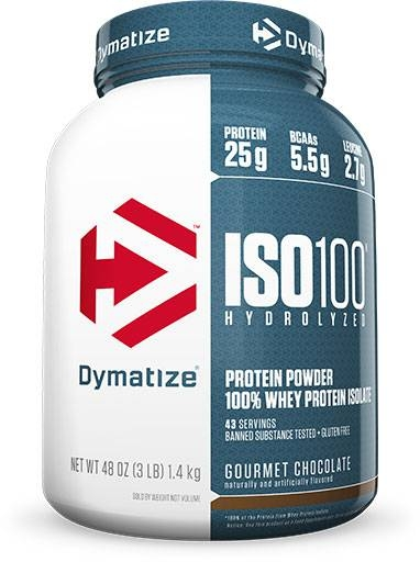 Dymatize Iso 100, Gourmet Chocolate, 3lb