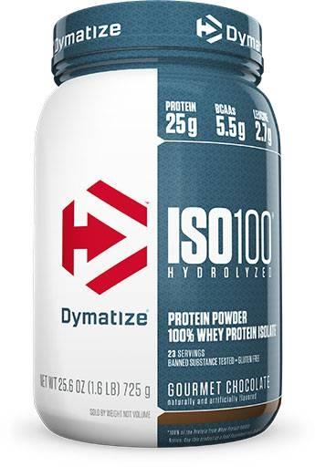 Dymatize Iso 100, Gourmet Chocolate, 1.6lb