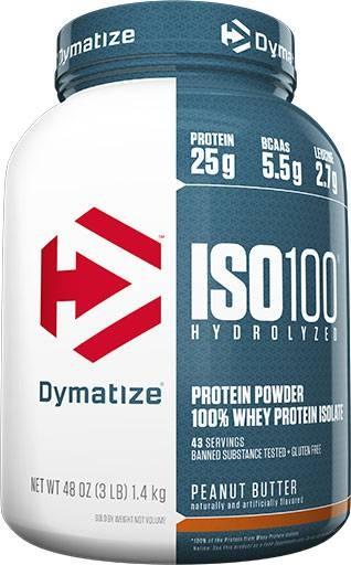 Dymatize ISO 100, Peanut Butter, 3lb